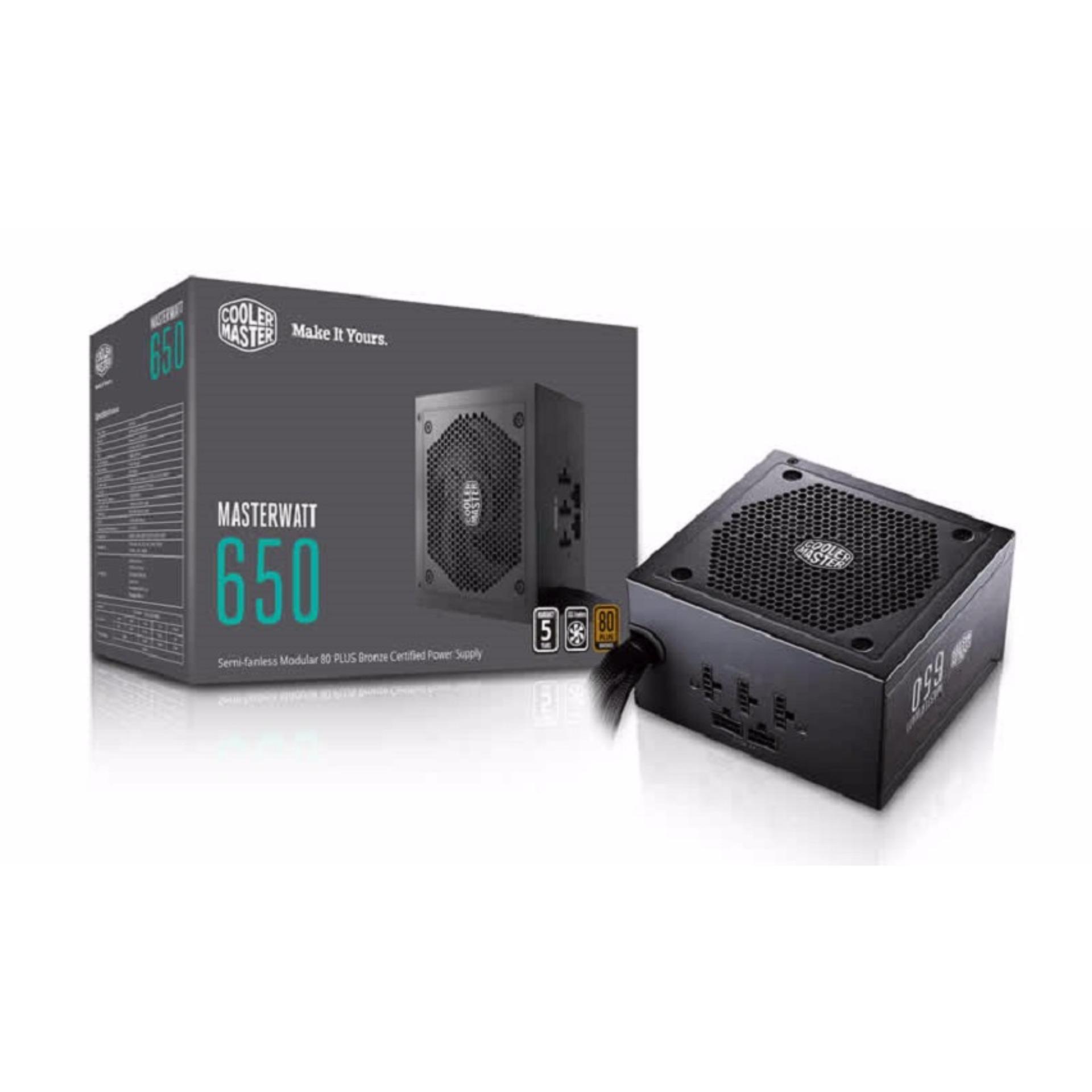Cooler Master Power Supply Units Singapore Digital Alliance Psu Gaming 500 Watt 80 Bronze Masterwatt 650 Semi Fanless Modular