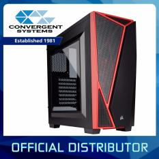 Low Price Corsair Carbide Series Spec 04 Windowed Mid Tower Case Black Red