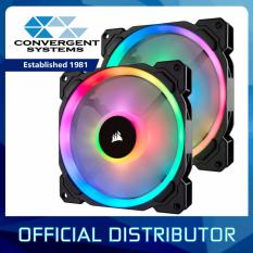 Brand New Corsair Ll Series Ll140 Rgb 140Mm Dual Light Loop Rgb Led Pwm Fan — 2 Fan Pack With Lighting Node Pro