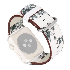 Best Price Country Floral Printed Replacement Watchband Pu Leather Band Strap Bracelet Wrist Belt For Apple Watch Iwatch Series 1 2 38Mm A Intl