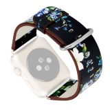 Retail Country Floral Printed Replacement Watchband Pu Leather Band Strap Bracelet Wrist Belt For Apple Watch Iwatch Series 1 2 38Mm D Intl