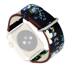 Price Country Floral Printed Replacement Watchband Pu Leather Band Strap Bracelet Wrist Belt For Apple Watch Iwatch Series 1 2 38Mm D Intl Thinch Hong Kong Sar China