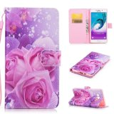 Review Crazy Horse Leather Case Flip Stand Cover For Samsung Galaxy A7 2015 Roses Intl On China