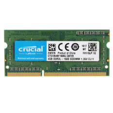 Crucial 4Gb Ddr3 1600Mhz Pc3 12800 1 35V Cl11 204 Pin Sodimm Notebook Laptop Memory Ram Ct51264Bf160B For Sale Online