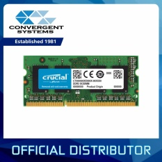 Crucial 8gb Ddr3 / Ddr3l 1600mhz Cl11 1.35v & 1.5v Non-Ecc Sodimm, So-Dimm Notebook Memory Ct102464bf160b By Convergent Systems.