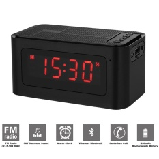 Lowest Price Desktop Bluetooth Speakers Alarm Clock Fm Radio Mp3 Player Tf Card U Disk Reader Hands Free With Microphone Led Display Intl