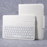 Retail Detachable Wireless Bluetooth Keyboard Leather Cover Stand For Samsung Galaxy Tab S3 9 7 Inch T820 White