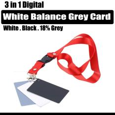 Digital Camera 3 In 1 White Balance Grey Card  18% Grey White And Black Card  Photography..