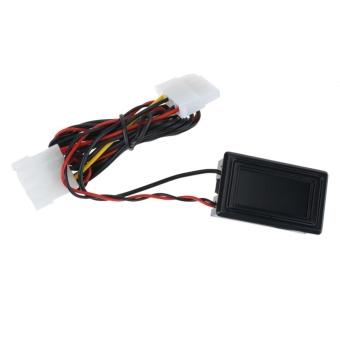 Digital Display Waterproof Sealing PC Water Cooling System Thermometer Tool (Black)