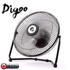 Digoo DF-101 10 Inch Black Metal USB Rechargeable Cooling Fan Buil-in 18650 Battery USB Cable Included - intl