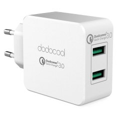 Buy Dodocool 36W Quick Charge 3 2 Port Usb Wall Charger Power Adapter With Eu Plug White Intl Black Dodocool Online
