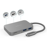 Dodocool Aluminum Alloy 7 In 1 Usb C Hub With Type C Power Delivery 4K Video Hd Output Sd Tf Card Reader And 3 Superspeed Usb 3 Ports For Macbook Macbook Pro Google Chromebook Pixel And More Gray Intl Best Buy