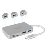Retail Price Dodocool Aluminum Alloy 7 In 1 Usb C Hub With Type C Power Delivery 4K Video Hd Output Sd Tf Card Reader And 3 Superspeed Usb 3 Ports For Macbook Macbook Pro Google Chromebook Pixel And More Silver Intl