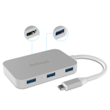 Buy Dodocool Aluminum Alloy Usb C To 4 Port Usb 3 Hub With Hd Output Port Convert Usb Type C Port Into 4 Superspeed Usb 3 Ports And 1 4K Hd Output Port For Macbook Macbook Pro Google Chromebook Pixel And More Silver Intl Silver Dodocool Cheap