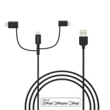Buy Dodocool Mfi Certified 3 3Ft 1M 3 In 1 Tpe Micro Usb To Usb 2 Cable With Lightning And Usb C Adapter Charge And Sync For Iphone 7 7 Plus 6S Plus Lg G5 Htc 10 Lumia 950Xl Nexus 5X Samsung S6 And More Black Intl Online Singapore