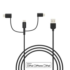 Dodocool Mfi Certified 3 3Ft 1M 3 In 1 Tpe Micro Usb To Usb 2 Cable With Lightning And Usb C Adapter Charge And Sync For Iphone 7 7 Plus 6S Plus Lg G5 Htc 10 Lumia 950Xl Nexus 5X Samsung S6 And More Black Intl Discount Code