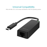 Sale Dodocool Usb 3 1 Type C Thunderbolt 3 To Rj 45 10 100 1000 Gigabit Ethernet Lan Network Adapter For Mac Os X And Windows Operating Systems Black Intl Black Online On Singapore