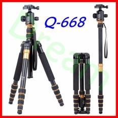Review Dream Qzsd Portable Q 668 Slr Camera Tripod Monopod Ball Head For Slr Camera Intl China