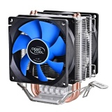 Dual Heat Sink Pipes Cpu Cooler Heatsink Cooling Fan Desktops Computer Accessory For Intel Lga1150 1155 775 1156 Amd Socket 100W Intl For Sale