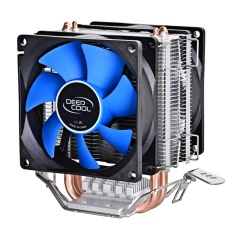 Dual Heat Sink Pipes Cpu Cooler Heatsink Cooling Fan Desktops Computer Accessory For Intel Lga1150 1155 775 1156 Amd Socket 100W Intl Lowest Price