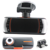 New Dual Lens Dashcam A1 Car Dvr Camera Full Hd 1080P 2 7 Lcd Video Recorder Dash Cam G Sensor With Rear Camera Support Gps Logger Intl