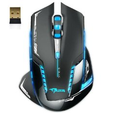 E-3lue 6D Mazer II 2500 DPI Blue LED 2.4GHz Wireless Gaming Mouse Black - intl