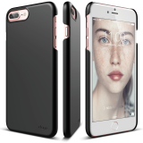 Coupon Elago Slim Fit 2 Case For Iphone 7 Plus Iphone 8 Plus Black Front Protection Film Included
