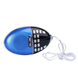 Elderly S Mini Speaker Portable Tf Card Support Radio Mp3 Player (Blue) Intl Oem Discount