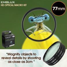 Review Emolux Digital Hd Macro 77Mm Optical Closeup Camera Lens Filter Kit On Singapore