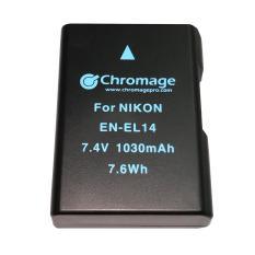 New Nikon En El14 Rechargeable Lithium Ion Battery Chromage Brand En El14A With 1 Year Warranty