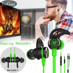 Price Esogoal Wired Magnet Earphone Noise Cancelling Stereo Bass Gaming Headphone With Mic 3 5Mm Hifi Earbuds With Extension Cable And Pc Adapter For Pc Laptop And Cellphones Intl China