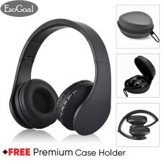 Esogoal Wireless Bluetooth Headphone Foldable Headset And Hard Protective Storage Travel Pouch Box ,noise Isolation Over Ear Earphone With Mic,free Carabiner By Esogoal.