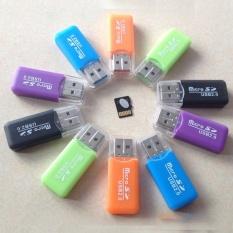 Etmakit Hot Sale Support USB 2.0 Memory Card Reader High Speed Micro SD TF Adapter Random Color - intl