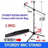 Compare Prices For Extra Heavy Sturdy Microphone Mic Stand With Carrier Bag