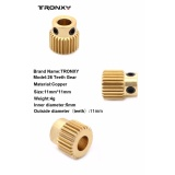 Buying Extruder Pulley 26Teeth Bore 5Mm Brass Drive Gear For 1 75Mm 3Mm Tronxy Prusa I3 3D Printer Filament Intl