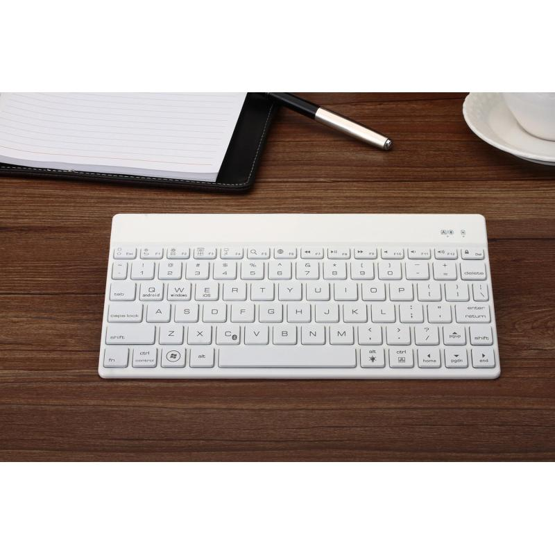 F3S Wireless Bluetooth 3.0 Keyboard w/ Backlight, Support iOS Android Windows WH - intl Singapore