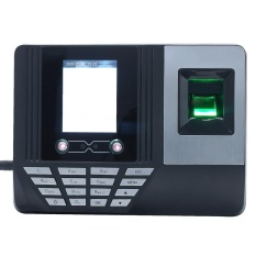 Face Fingerprint Password Attendance Machine Employee Checking-in Payroll Recorder 2.8 inch LCD Screen DC 5V Facial Recognition Time Attendance Clock - intl