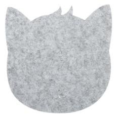 Fancyqube Cute Cartoon Cat Shape Mouse Pad Light Grey - intl