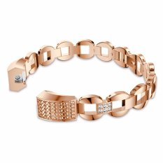 Fashion Crystal Stainless Steel Strap Wrist Bands For Fitbit Alta Smart Watch Intl Promo Code