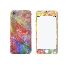 Low Cost Fashion Geometry Marble Case Ultra Slim Pc Back Cover With Front Marble Tempered Glass Set For Apple Iphone 7 Plus Intl