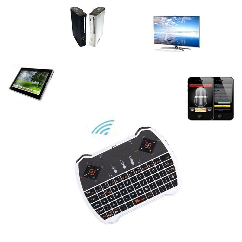 Fashion Mini 2.4G Wireless Keyboard Touchpad For PC Android TV X-BOX WH - intl Singapore