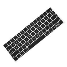 Fashion Portable Keyboard Cover Silicone Skin Washable Protector for MacBook Pro with Touch Bar Model 13inches or 15inches 2016 Release MacBook Pro A1706 A1707 Black - intl
