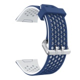 Fashion Silicone Breathable Hole Replacement Watchband Smart Bracelet Watch Wrist Band Strap For Fitbit Ionic Watch Blue White Intl On Line