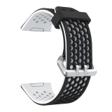 Best Price Fashion Silicone Breathable Hole Replacement Watchband Smart Bracelet Watch Wrist Band Strap For Fitbit Ionic Watch White Black Intl