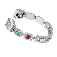 Fashion Women India Style Rhinestone Stainless Steel Bracelet Wristband For Fitbit Alta Hr Fitness Tracker Intl Coupon
