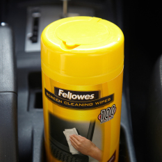 Fellowes/Fellowes Removable Cleaning Wipe Computer Screen Cleaning Cloth  100 Pieces Anti-static Don't Shed