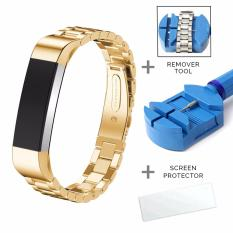 Where To Shop For Fitbit Alta Metal Strap Watch Band Free Screen Protector Removal Tool With 6 Colors