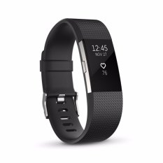 Promo Fitbit Charge 2 Heart Rate Fitness Wristband Black Small
