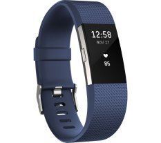 Low Cost Fitbit Charge 2 Heart Rate Fitness Wristband Blue Small