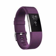 Fitbit Charge 2 Heart Rate Fitness Wristband Plum Small Lower Price